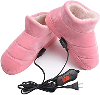 Heating Slippers Shoes, Cold Weather Winter Heated Warm Shoes for Women Men Girls Boys