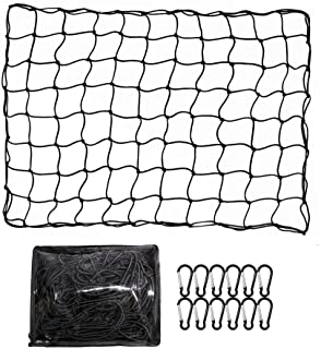 ValueHall CargoNet Heavy Duty Truck Bed Net 4 x 6 feet Stretches to 8 x 12 feet Cargo Net for Truck Bed Cargo Net with 12...