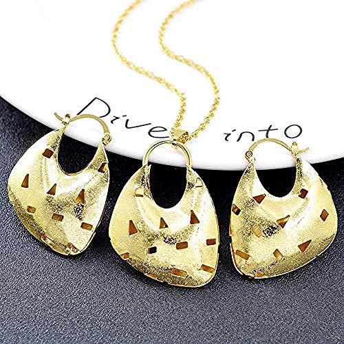 Gran Conjunto de Joyas para Mujer, Collar, Pendientes, Colgante, Gota de Agua, hallazgos de joyería para joyería de Boda, Longitud del Collar 45Cm