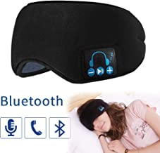 Bluetooth Sleep Mask for Women & Men Wireless Bluetooth Headphones Music Travel Sleeping Headset Ultra Soft Breathable Built-in Speakers Microphone …