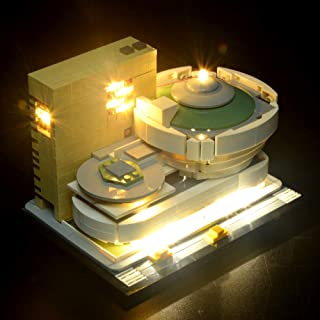 BRIKSMAX Led Lighting Kit for Architecture Solomon R.Guggenheim Museum-Compatible with Lego 21035 Building Blocks Model- Not Include The Lego Set