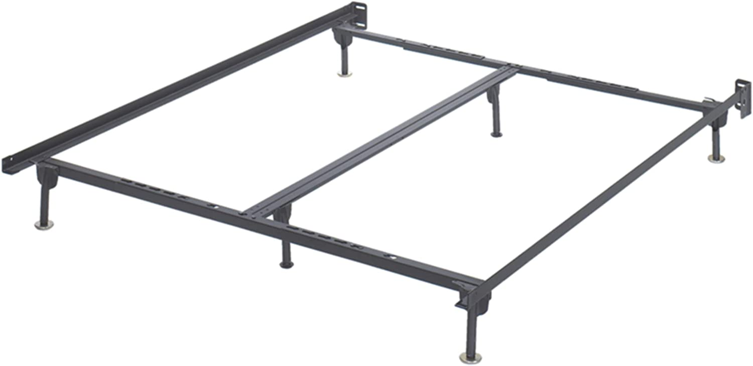 Ashley Furniture Signature Design - Frames and Rails Bolt on Bed Frame Queen King California King Size - Contemporary - Component Piece - Black
