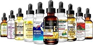 Anti Aging Moisturizing Set with Vitamin C Collagen Tea Tree Vitamin E and Hyaluronic Acid Serum for Anti Wrinkle Dark Cir...