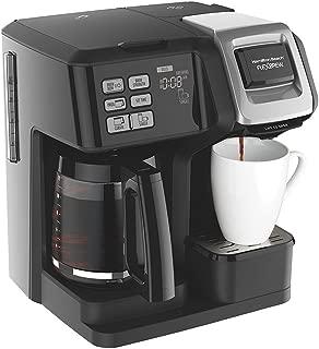 Hamilton Beach FlexBrew 2-Way Brewer Programmable Coffee Maker (49976) with Extended Warranty