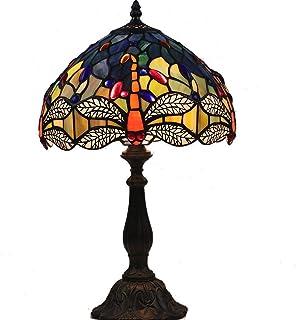 DOBESTES Amp Lampe Tiffany; Glass Factory Cadeau Coloré Papillon 12 Pouces de Style Tiffany Lampe de Table Éclairage (12 *...