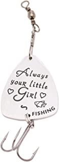 Melix Gift for Dad from Daughter Always Your Little Girl Fishing Hook Gift for Dad Fishing Lure
