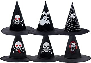 Alpurple 6 Packs Halloween Witch Hat-Newest Design Halloween Witch Costume Accessory for Holiday Halloween Christmas Carni...