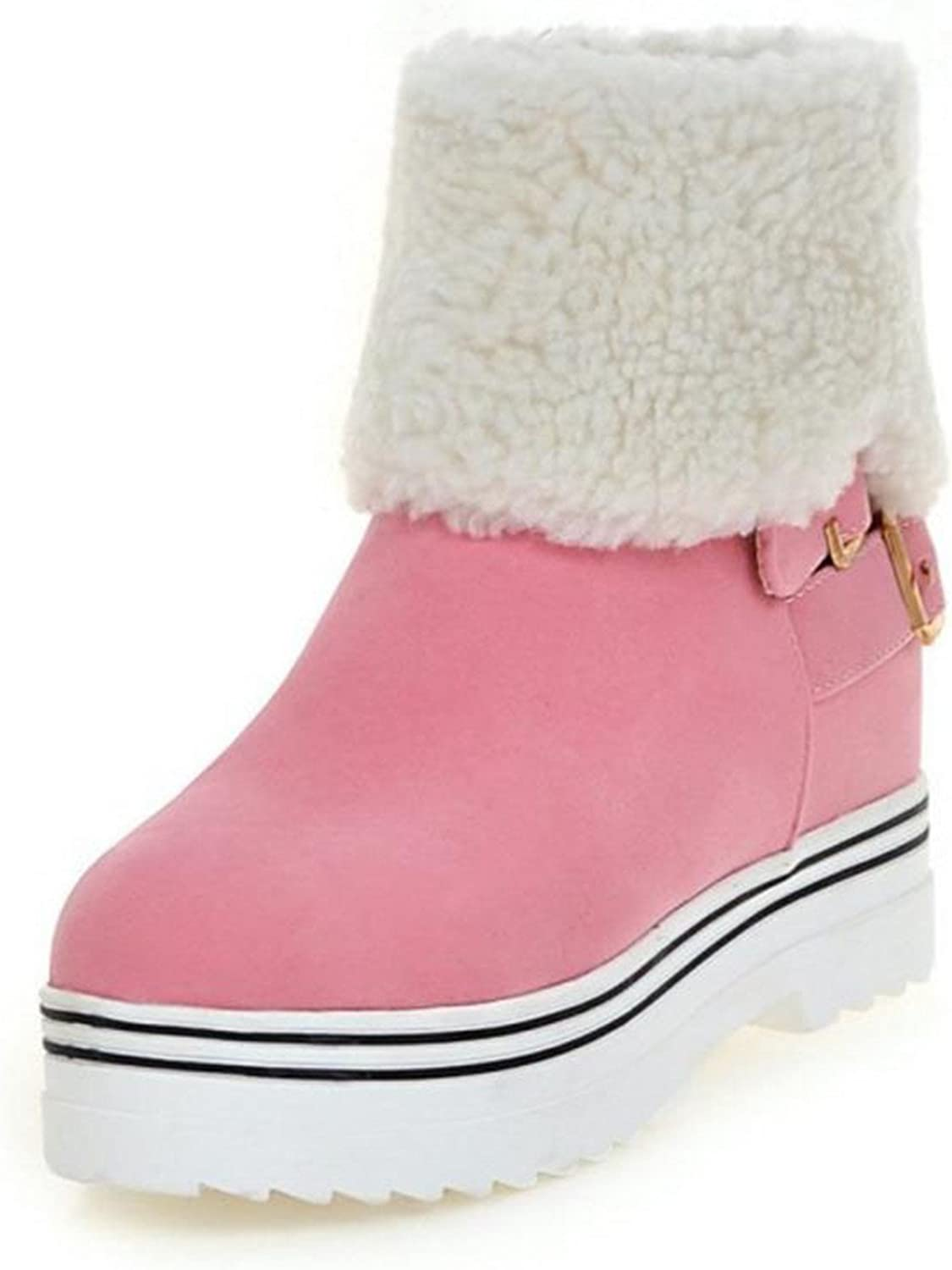 Better Annie Size 34-43 Women Med Heel Ankle Snow Boots Women Warm Plush Inside Agrafe Thick Platform shoes Women Cold Winter shoes