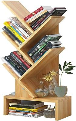 XXLlqRacks Bookshelf,Tree Shape Floorstanding Bookshelf,5Tier Floor Standing Bookcase,Books Magazine Display Storage for Office & Home,Simple Living Room Storage Organizer Shelf for CDs