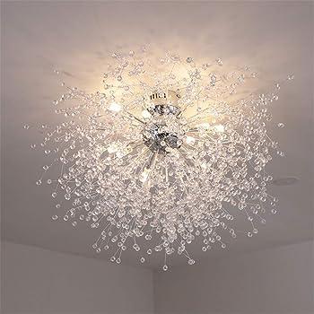 リビングルームのベッドルームのための現代の花火ライトシーリングライトフィクスチャクリスタルペンダント照明シャンデリア,Warm light,60cm / 8 lights