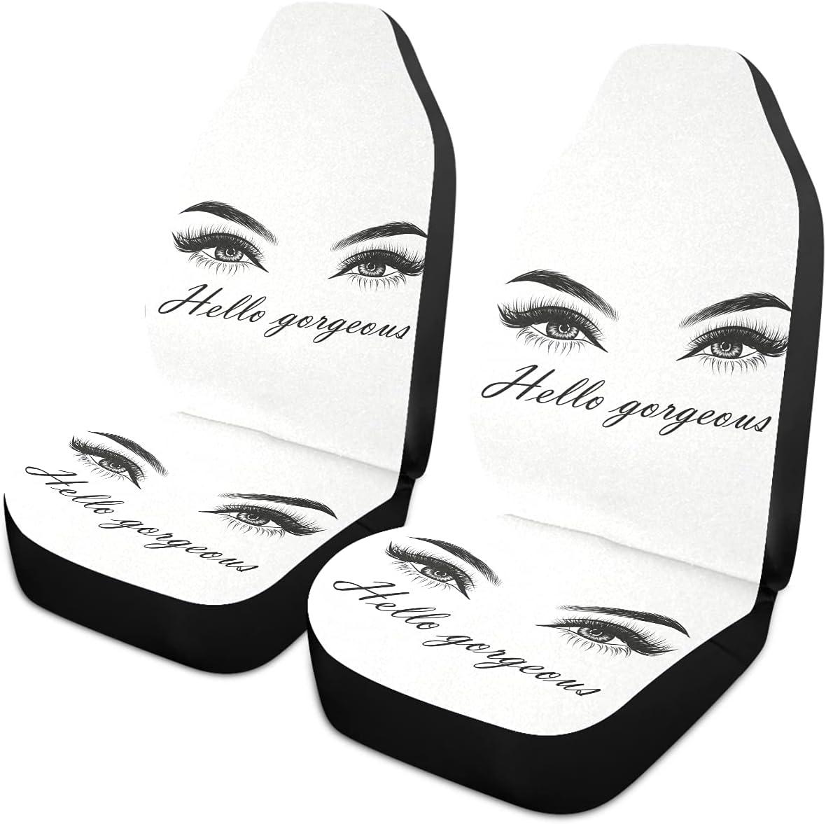 Oarencol Women Eyes Hello Gorgeous Covers service Car Universal Seat Aut Choice