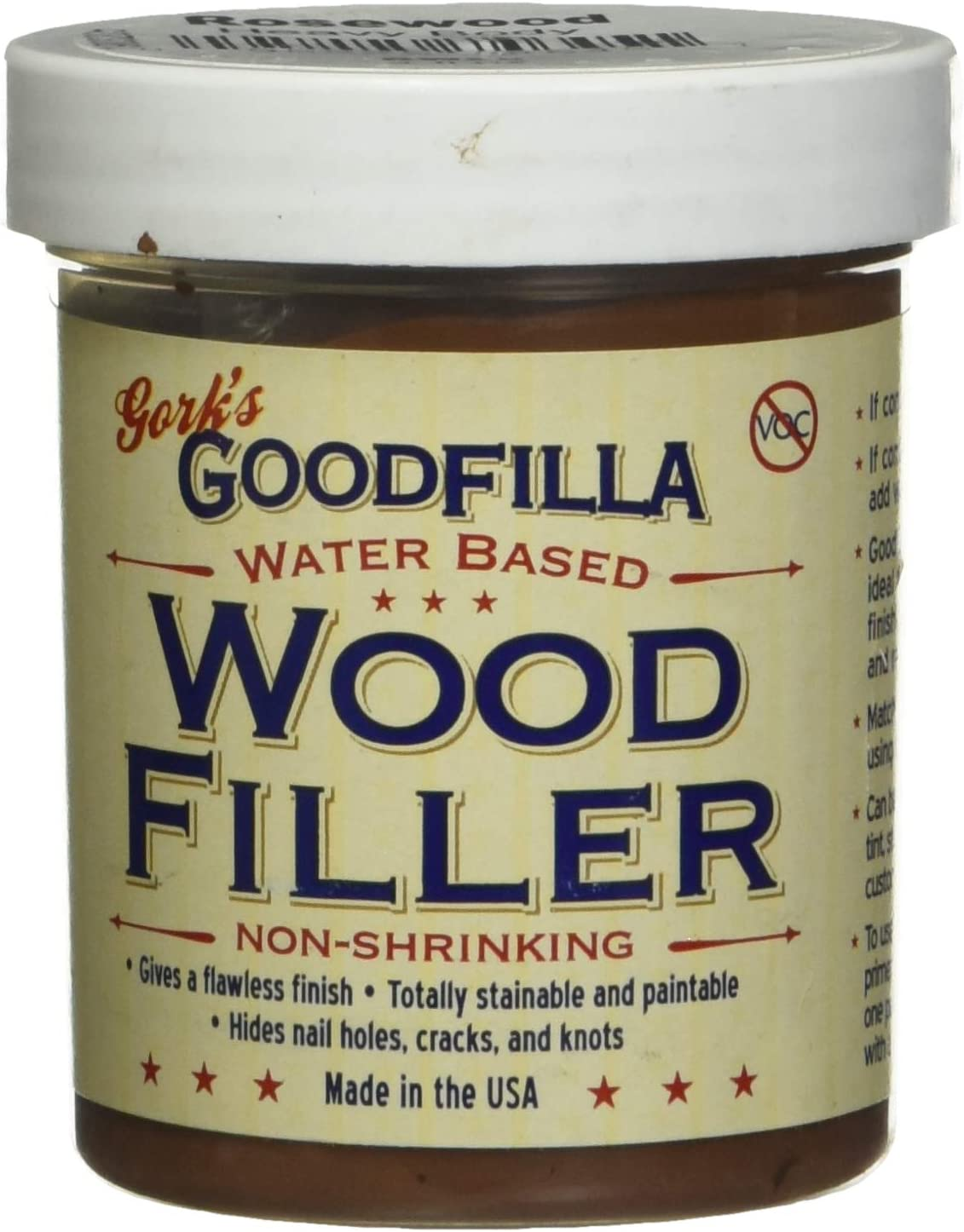 Free Shipping New Water-Based Wood Grain Filler Award-winning store - by Goodfilla oz Rosewood 8