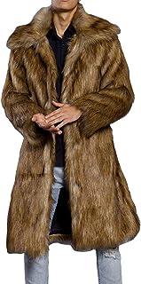 Men's Fur Coat Fur Coat Long Trench Coat Faux Fur Feast Clothing Jacket Warm Winter Jacket Men Fashion