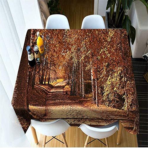 WSJIABIN Mantel Impresión Digital en D Pequeño Mantel de Picnic Fresco Moda Creativa Mantel a Prueba de Aceite y Resistente al Agua Adecuado para Interiores y Exteriores 90x180cm