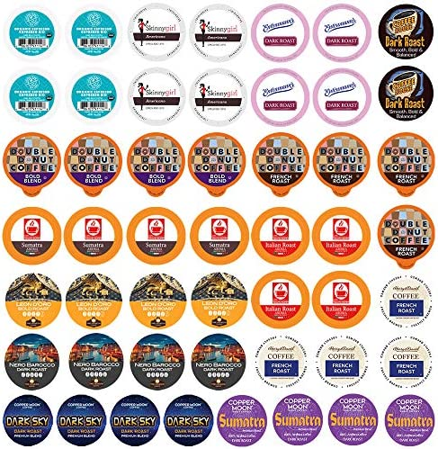 Perfect Samplers Dark Roast and Bold Flavors Single Serve Coffee Pods for Keurig K Cup Machines product image