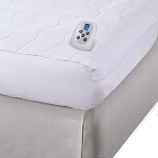 Serta   Silky Smooth Plush Velour Electric Heated Mattress Pad with Hypoallergenic Fill (King)