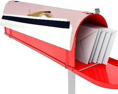 Cute Animal Dog Design Mailbox Covers Sticker Mail Post Box Decor Decal 45x52cm