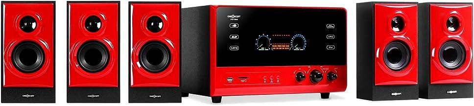 oneConcept V51 - Sistema Sonido Envolvente 5.1, Home Cinema, Surround, 70 W RMS, Subwoofer Activo emisión Lateral 4