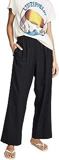 Women's Tropical Wool Wide Leg Pull On Trousers