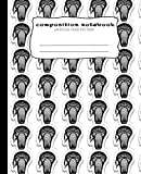 Composition Notebook : Lacrosse Head: Composition Book with a Lacrosse Head pattern, Wide Ruled 7.5 x 9.25 in, 100 page book for boys, girls, teachers, students and school