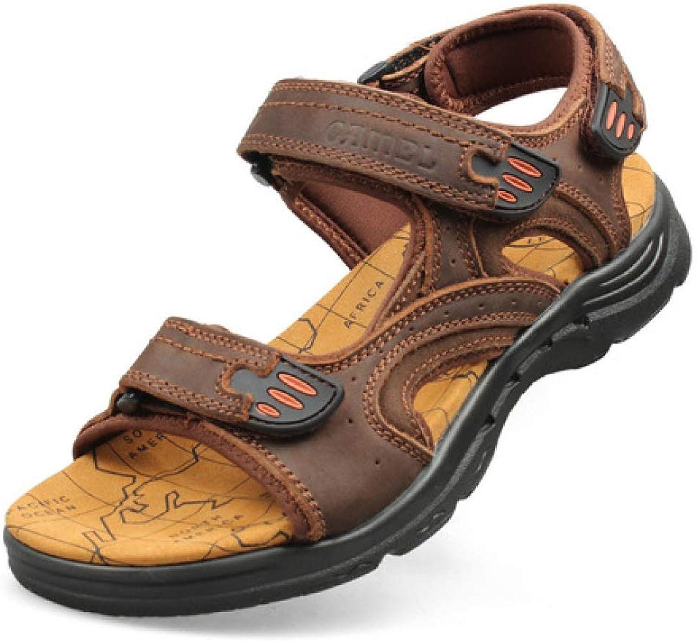 TD S83147 Sandals Men Breathable Beach Sandals (color   BROWN, Size   EU39 UK6.5 CN40)