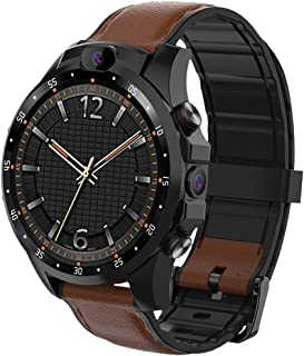 Wireless Bluetooth Smart Watch V9 3G+32G 1.6 inch IPS Screen IP67 Life Waterproof 4G Smart Watch, Support Heart Rate Monitoring/Message Notification/Phone Call/Dual Cameras (Black) Fitness Track