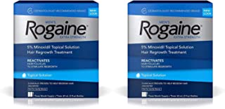 Men's Extra Strength 5% Minoxidil Topical Solution for Hair Loss and Hair Regrowth, Topical Treatment for Thinning Hair, 3-Month Supply - 2 Pack