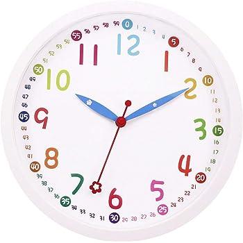 3D orologio da parete di Design da cucina Baduhr office Clock da cameretta mela Plastica verde 30 x 35 x 2 cm