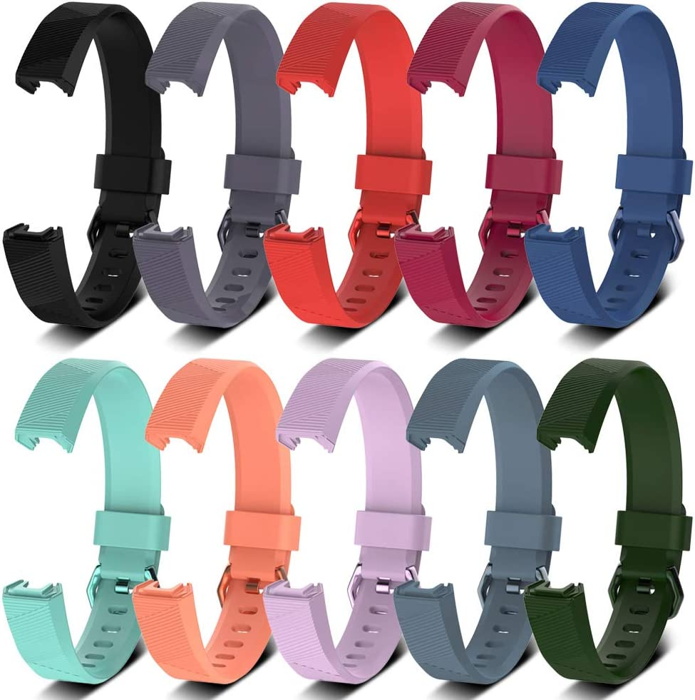 Awinner Bands for Fitbit Alta HR,Silicone Replacement Band for Fitbit Alta HR and Alta (Classic) (Small-10PCS)