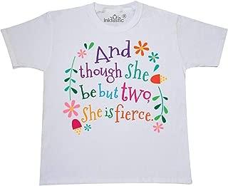 inktastic 2nd Birthday Girls She is Fierce Youth T-Shirt