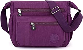 Travel Essential, Stylish and Durable Lightweight Waterproof Travel Shopping Messenger Bag (Color : Purple, Size : 28x11x26cm)