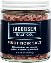 Jacobsen Salt Co. Specialty Sea Salt for Fancy Gourmet Cooking, Infused Sea Salt, Pinot Noir Flavored, 3.5 Ounces