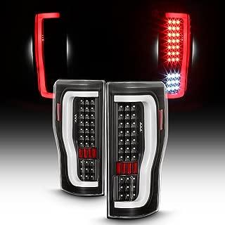 For 2017-2019 Ford F250/F350 SuperDuty Full LED DRL Bar Tail Lights Black Housing Clear Lens Set