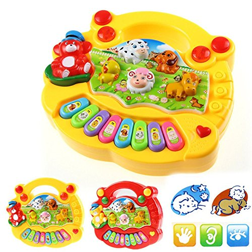 wicemoon New Baby Animal Farm Piano Musik Spielzeug Kinder Musical Educational Piano Cartoon Animal Farm Entwicklung Spielzeug Kinder Geschenk (Farbe erfolgt zufällig)