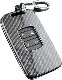 Furzon Portachiavi in cristallo con logo dellautomobile Trasparente portachiavi per auto luce LED confezione regalo Fiat cambiamento del colore della luce
