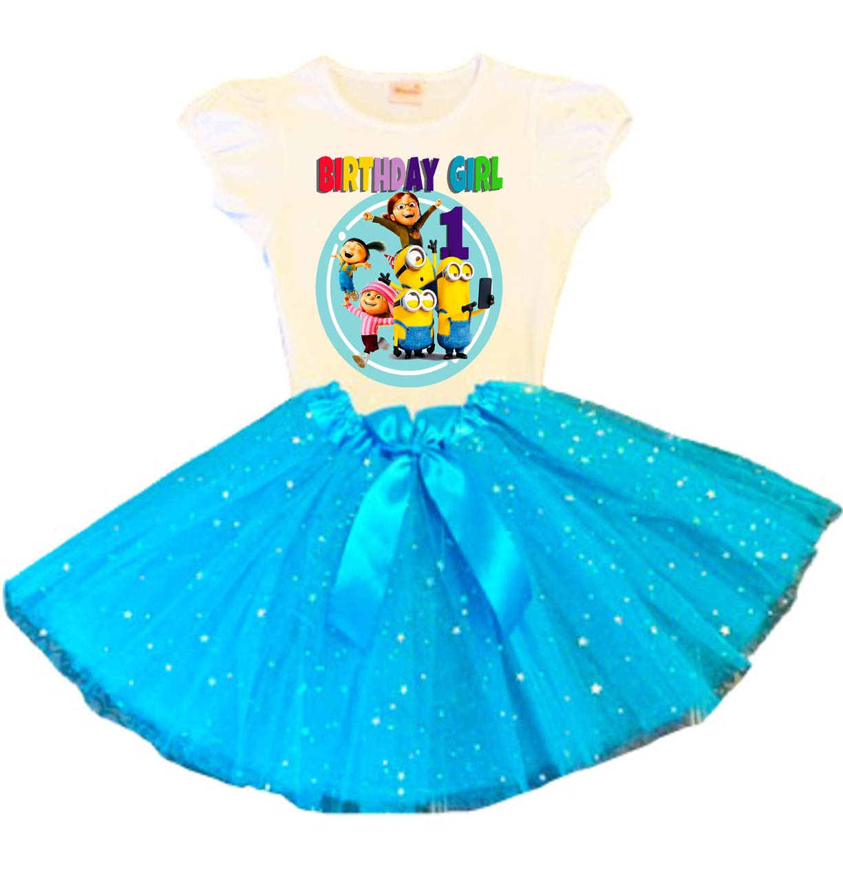 Minions Birthday Tutu 1st Dress Japan's largest A surprise price is realized assortment Turquoise Party Ou