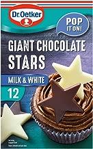 Dr. Oetker Giant Chocolate Stars - 6 Milk chocolate stars and 6 White chocolate stars