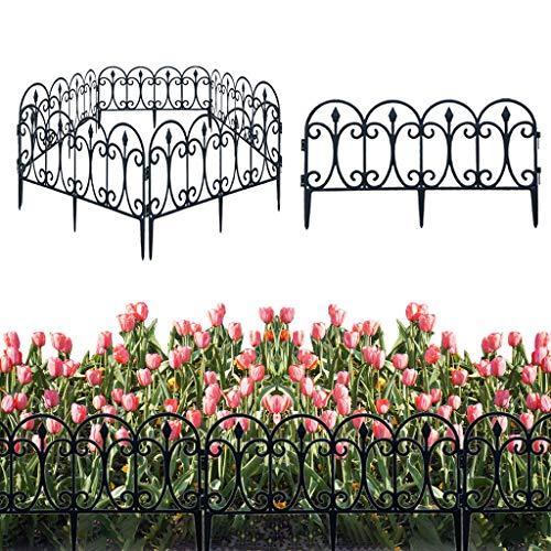 AniYY 5 unids decorativo jardín valla al aire libre a prueba de herrumbre paisaje borde plegable patio vallas flor cama esgrima barrera