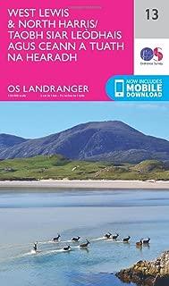 ORDNANCE SURVEY Landranger 13 West Lewis & North Harris Map with Digital Version
