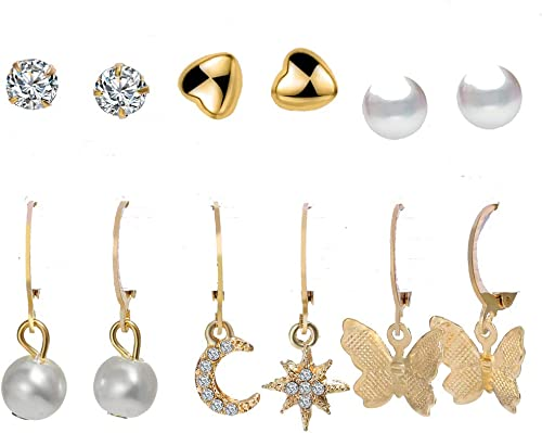 Jewels Galaxy Brass and Pearl Earrings for Women