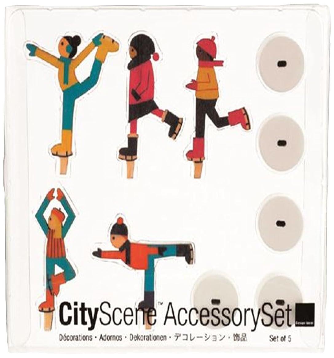 百反発する若いシティーシーンアクセサリーセット 「 アイススケーター 」