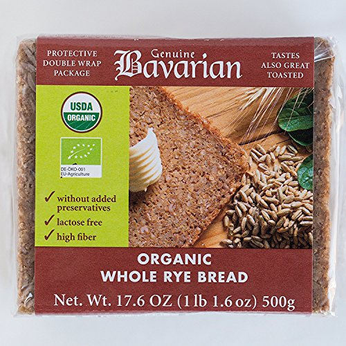 Genuine Bavarian Organic Whole Rye Bread, 17.6 Ounce - 6 per case.