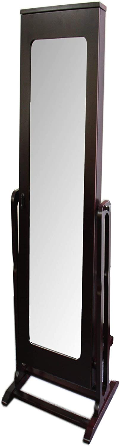 Ore International Mirror with Storage Bargain shop and Jewelry Armoire Stand