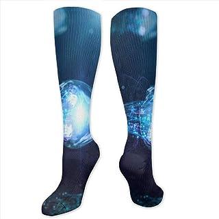 zhouyongz, Calcetines de Vestir para Hombre, diseño de Medusas de Color Azul, algodón, a la Moda
