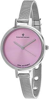 Christian Van Sant Women's Grace Quartz Stainless Steel Strap, Silver, 8 Casual Watch (Model: CV0282)