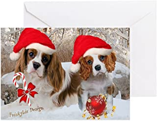 CafePress - Cavalier King Charles Christm Greeting Cards (Pk O - Greeting Card (20-pack), Note Card with Blank Inside, Birthday Card Glossy