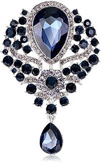 Created Rhinestone Crystal Brooch, Big Crystal Rhinestone Bouquet Brooch Fashion Pin Gift