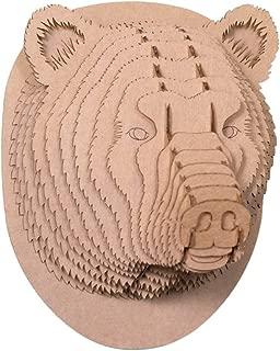 Cardboard Safari Recycled Cardboard Animal Taxidermy Bear Trophy Head, Stewart Brown Medium
