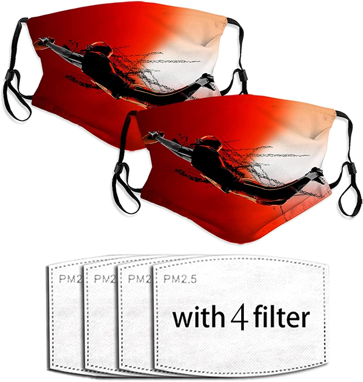 american football red Face Bandana with for Weare Filter Cash special price Glasses Max 72% OFF