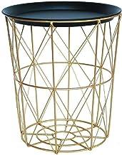JUAN Laundry Basket Iron Hamper Extra Large Nordic Style Metal Storage Basket With Wheels Bathroom Storage Barrel Industrial Wind (Color : Gold, Size : 28 * 34 * 38.5cm)